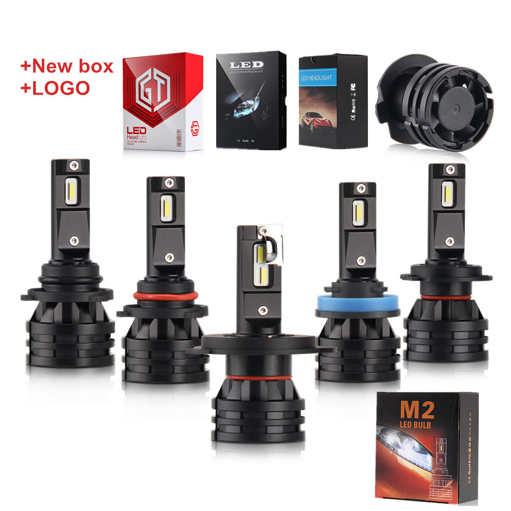 New Logo Head Light H7 Led Headlight Bulbs h4 Fan 16000Lm 100w HB4 Auto C6 X3 led Headlight h7 Led M2 led h4