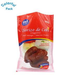 Custom printed meat dry food 3 sides seal frozen food grade nylon plastic packaging vacuum bags