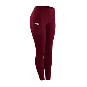 Yogapants Pantalones Athleisure Fitness Sport Leggings Tights Slim Running Pants Quick Drying Training Trousers With Pockets