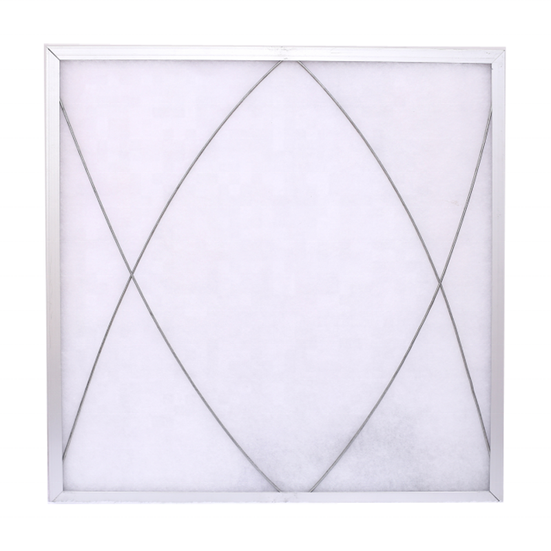 490*490*22MM Factory hot sell Washable G4 panel tiled synthetic fiber pre air filter with aluminium frame
