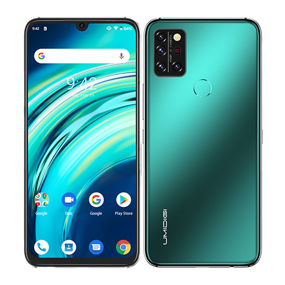 UMIDIGI A9 Pro Smartphone 6GB+128GB Octa Core 6.3' FHD+ Waterdrop 48MP Quad Camera 4150mAh Android phone Mobile Phone 4G