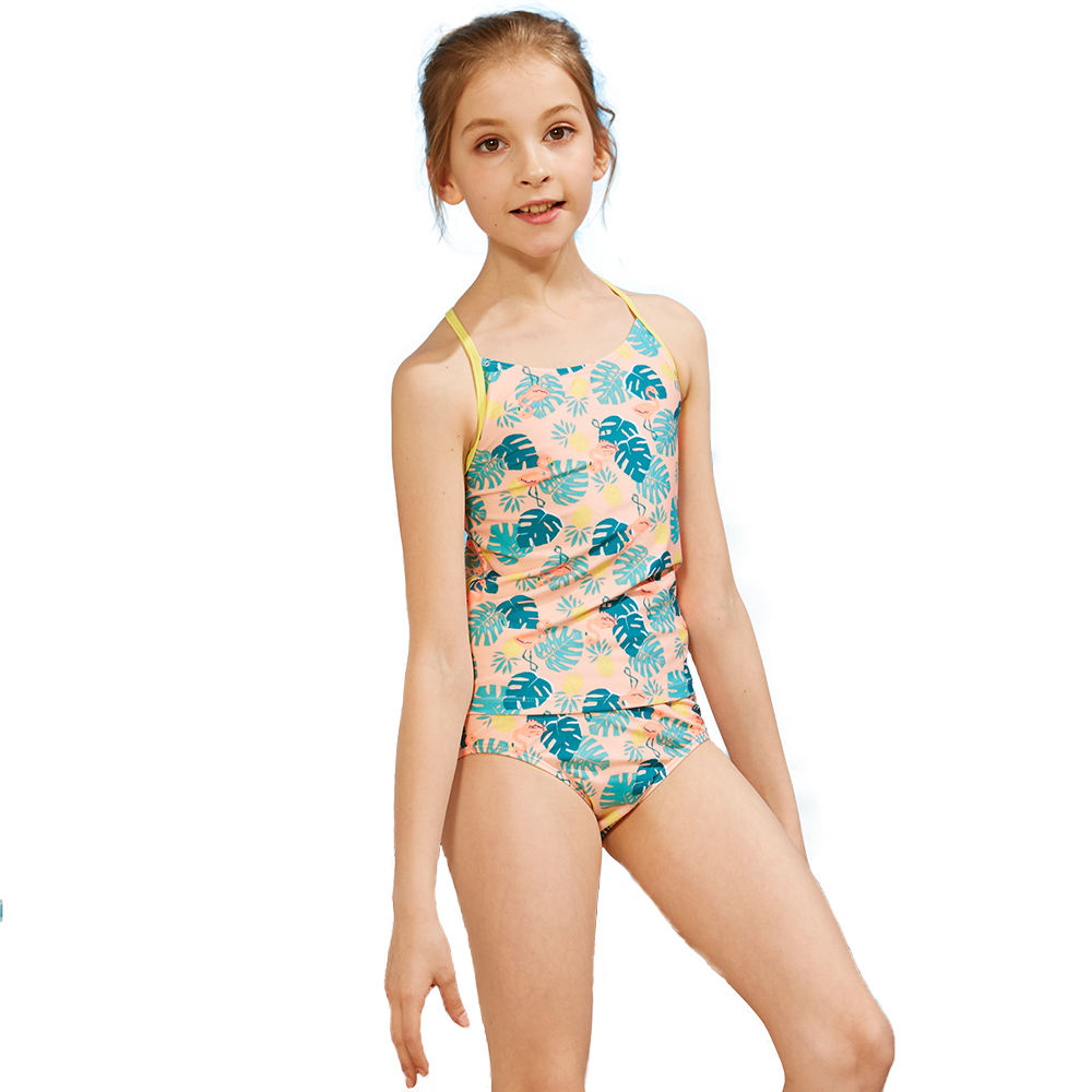Kids Summer Bathing Suit Girls Swimsuit Private Label Tankinis Beach Wear Children Two Piece Floral Swimwear