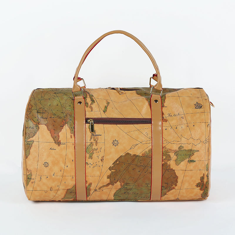 Map Travel Bag Personalized Wholesale Fashion Women Customize Retro Handbag