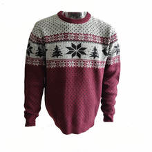 Leadown OEM Basic Style Cheap Knitwear Designer Men Jacquard Pullover Sweater