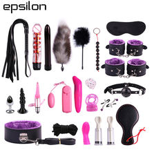 23 Pieces Adult Bondage Kit Set Leather Bondage Sex Toy for  Couple SM