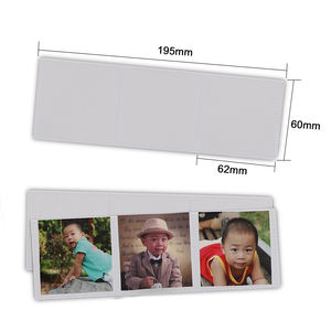 Amazon hot sell Customized Kids baby Cute Mini magnetic photo display magnetic photo pocket picture frame Photo sleeves