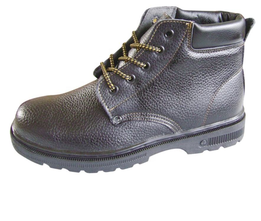 CE Standard Leather Steel Toe Cup Labor Boots for Men Safety Shoes Work