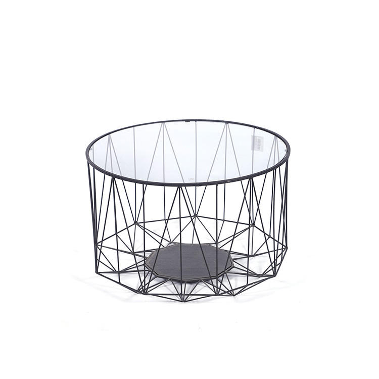 K&B High Quality round side table oval glass coffee tables modern furniture Competitive Price
