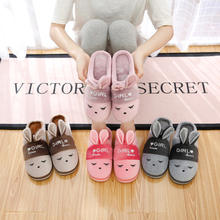 Indoor slipper woman 2019 new autumn winter cartoon cotton slippers