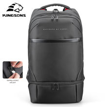 Kingsons business sac a dos bagpack waterproof men's backpack bag backbag back pack laptop usb bag for man smart backpack