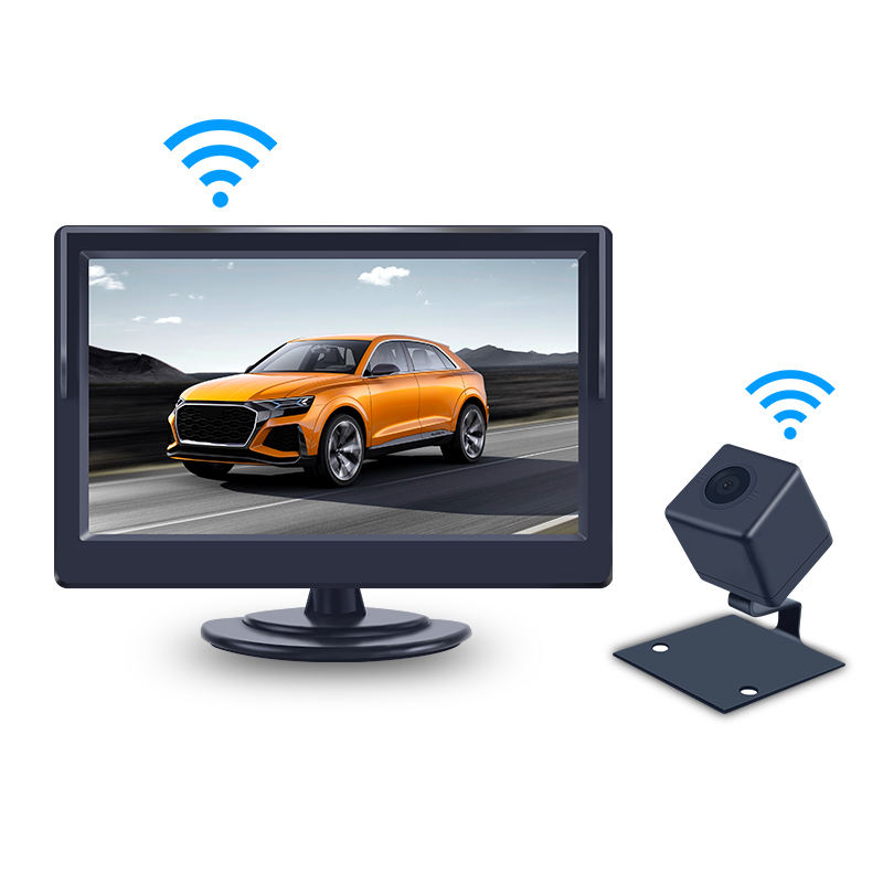 CE ROSH Digital Wireless Car Rear View Camera Safety System 5 inch monitor parking camera wireless auto reversing aid