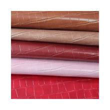 Crocodile belly texture PVC leather is used for women bags and pillow leather