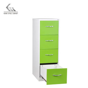 adjustable shelves steel filing cabinet Vertical storage metal wardrobe 4 drawers locker