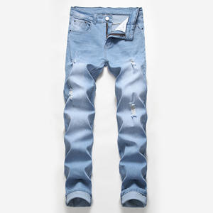Cheap Price Fashion Summer Denim Pants Wholesale Skinny Jeans Men
