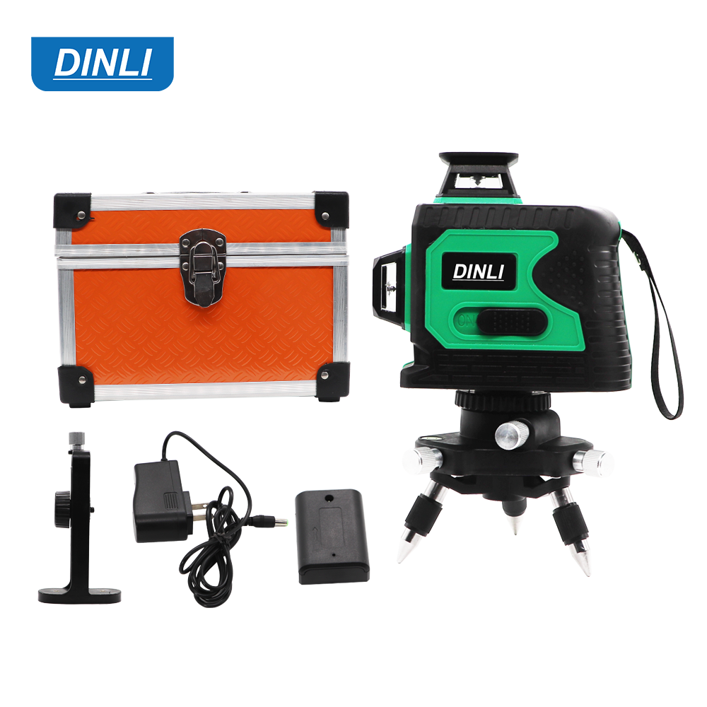 12 Line 3D Outdoor Automatic Self Leveling Cross Line Green Beam laser level