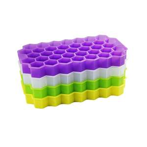 Big Ice Cup Mold Holder Ice Honeycomb Trays Ice Cube Silicone