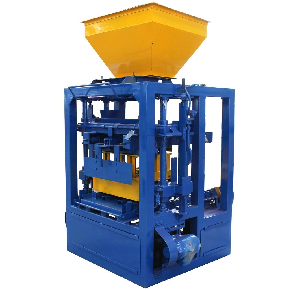 QT4-24 Cement Hollow Block Semi-Automatic Machine Block Making Machine Concrete
