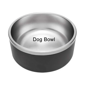 Wholesale Large 64 oz Insulated Dog Bowl Stainless Steel Pet Bowls Food Feeder Powder Coat Metal Thermo Bowls for Dog with Logo