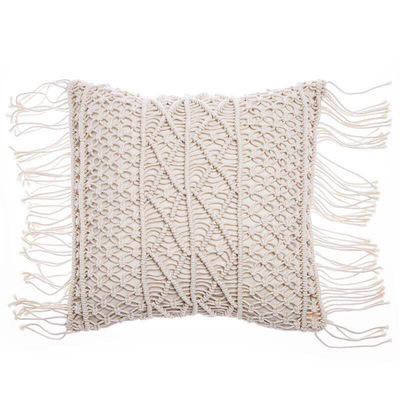 Soft Touch Throw Duck Feather Pillow With Tassel For Home Decor