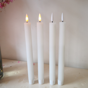 Black wick LED taper candle