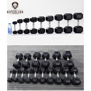 Factory Free Weight Lifting Gym Equipment Workout 20pound Lbs 10Kg Hexagonal Rubber Hex Dumbbell Sets In Pounds