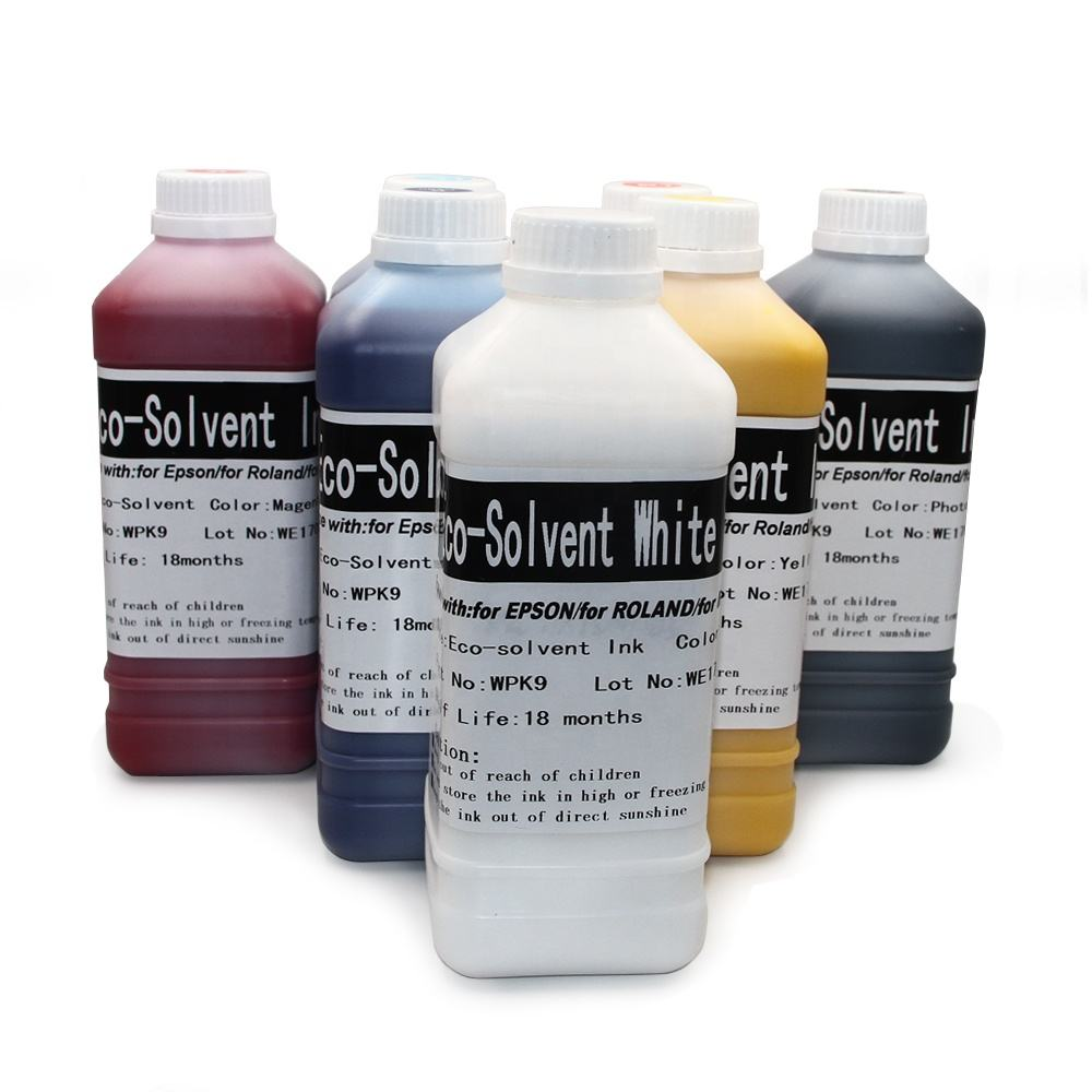 Supercolor Eco Solvent White Ink For EPSON MIMAKI ROLAND MUTOH Eco solvent Ink---Have White Color In Stock