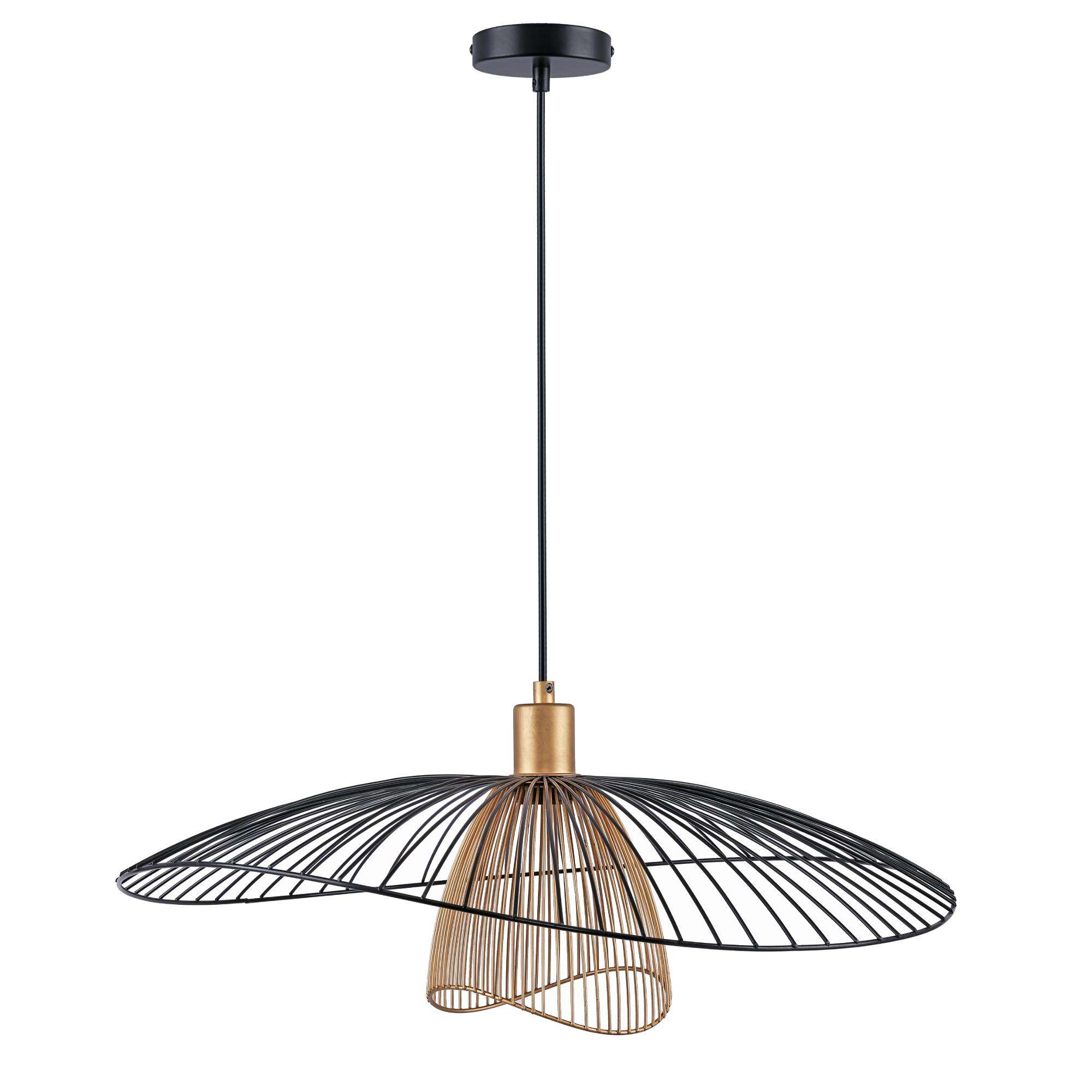 Modern Industrial Hanging Light Pendant Lamp Single Light Wire Cage Ceiling Pendant Light Fixture