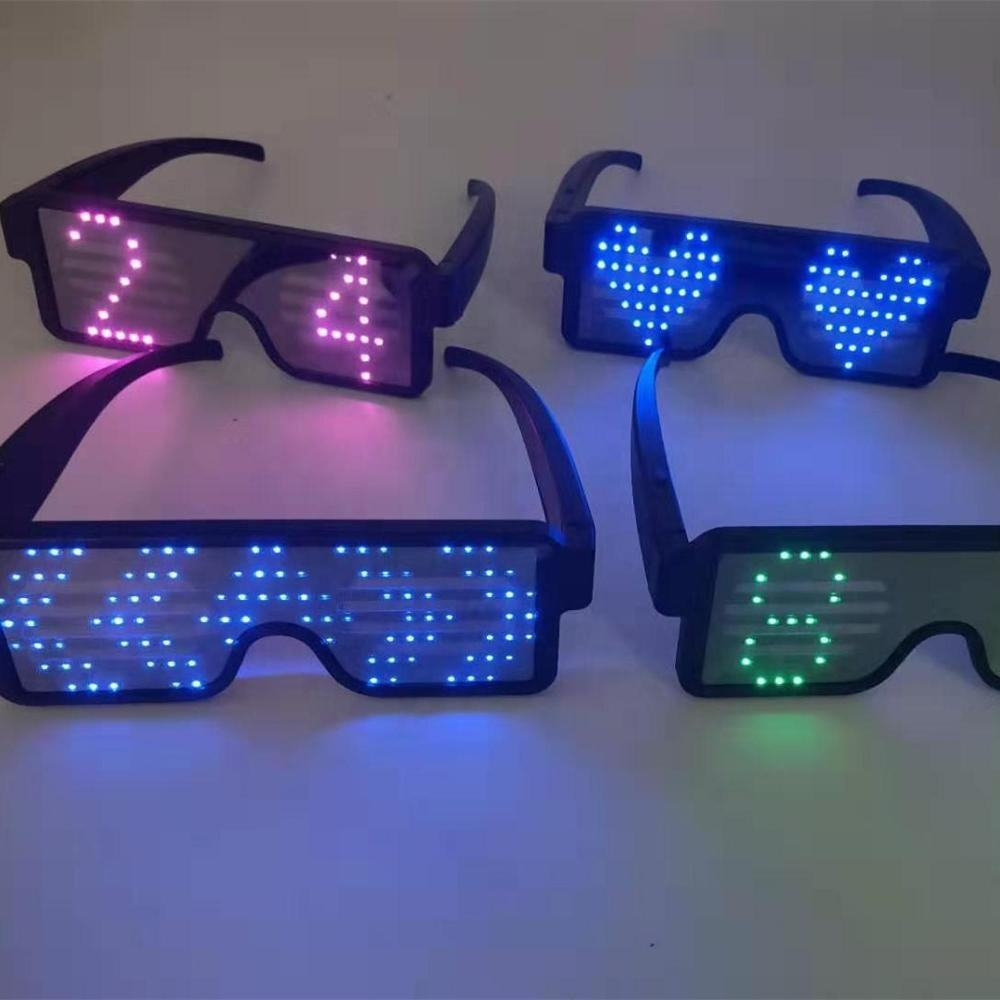 New Trendy USB Charging LED Sunglasses Magic Party Rave Eyeglasses LED Flashing Light Glasses for Party Club