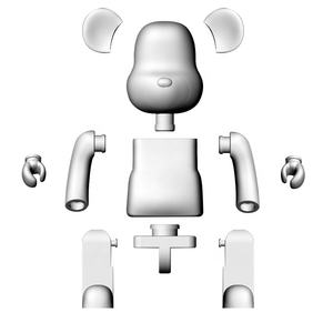 hot sale custom bearbrick 1000 ABS action figure/OEM bearbrick 400 plastic figure toy/Wholesale cute bear figure toys