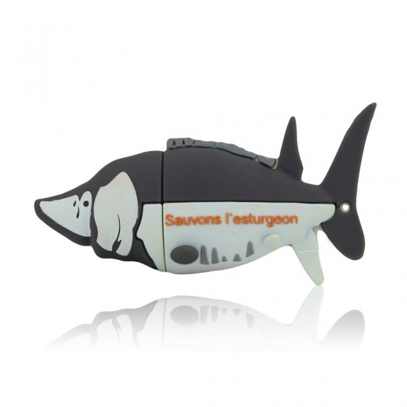 Unique USB/Customized PVC USB Flash Drive Shark Shape 3D Custom USB Personalised Pendrive For Business Gift Promotion