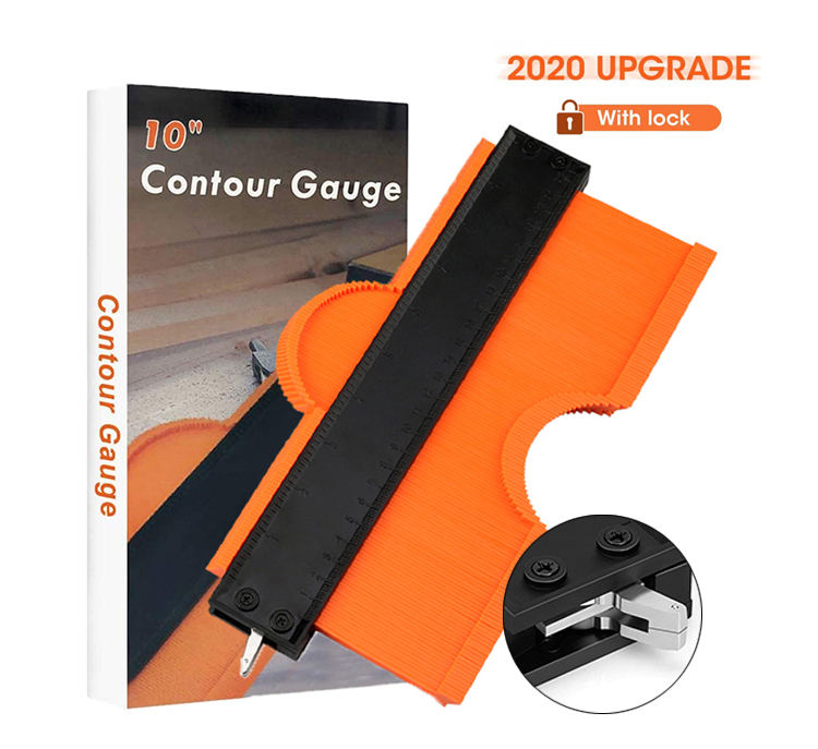 2020 2 Pack Shaper Profile Tool 5 Inch 10 Inch Widen Plastic Aluminum Profile Shape Contour Gauge With Lock