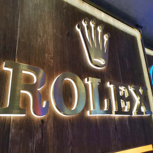 High quality 3d blush stainless steel led logo sign backlit letter advertising outdoor sign led lighting design letter
