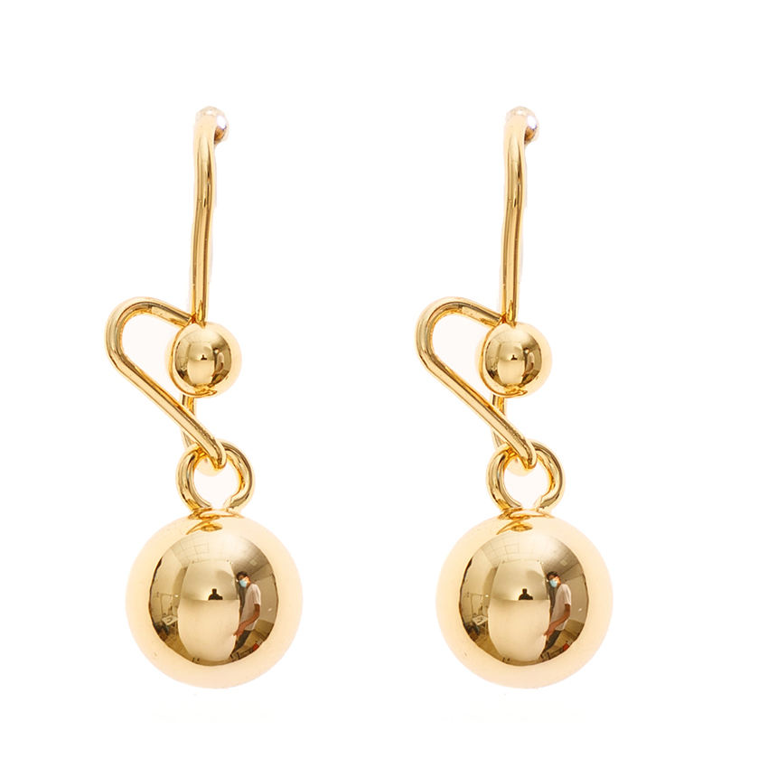 18k fine jewelry copper brass real gold plated 18K miles music twisted drop earrings for women