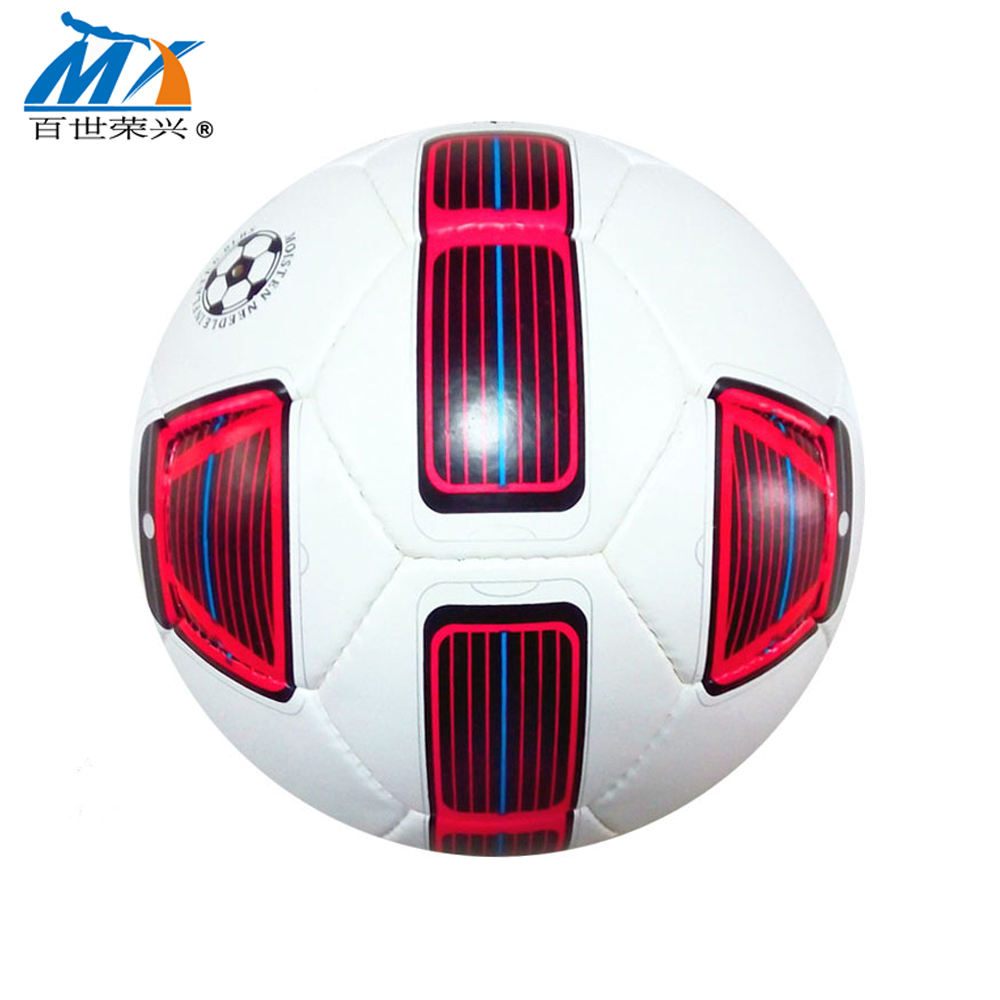 sports goods factory wholesales 5# soccer ball 2.7mm pvc leather rubber bladder 389g football ball hand sewing