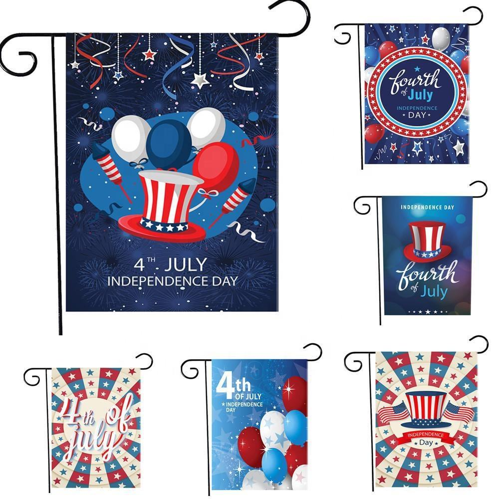 Garden Outdoor Decoration Yard Flags両面American Memorial Veterans Day Flags Soldier Military House Flag Banners