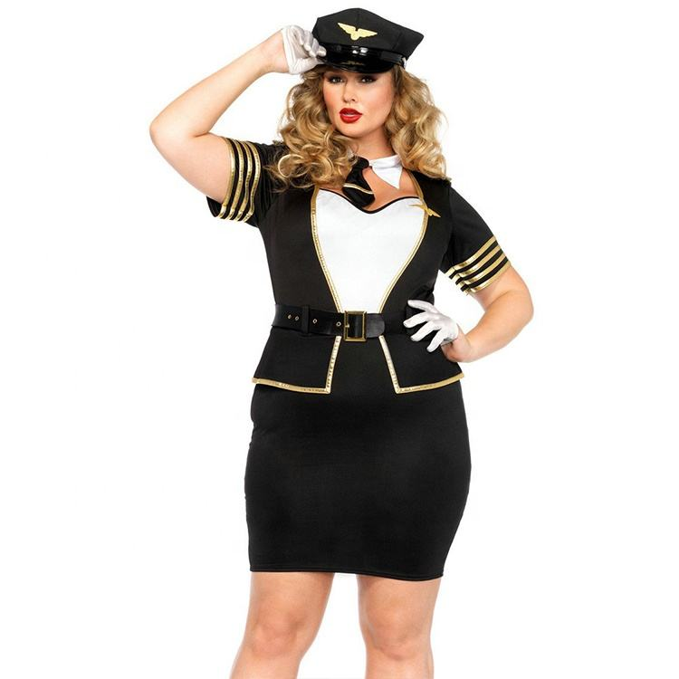 Cosplay Più Il Formato 5pcs Mile High Pilot Costume di Halloween