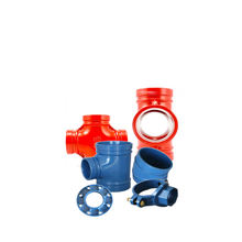 Ductile iron flexible rigid coupling mechanical threaded coupling Grooved pipe fittings