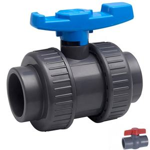 ANSI China factory high quality water treatment cpvc pvc plastic Double union ball valve
