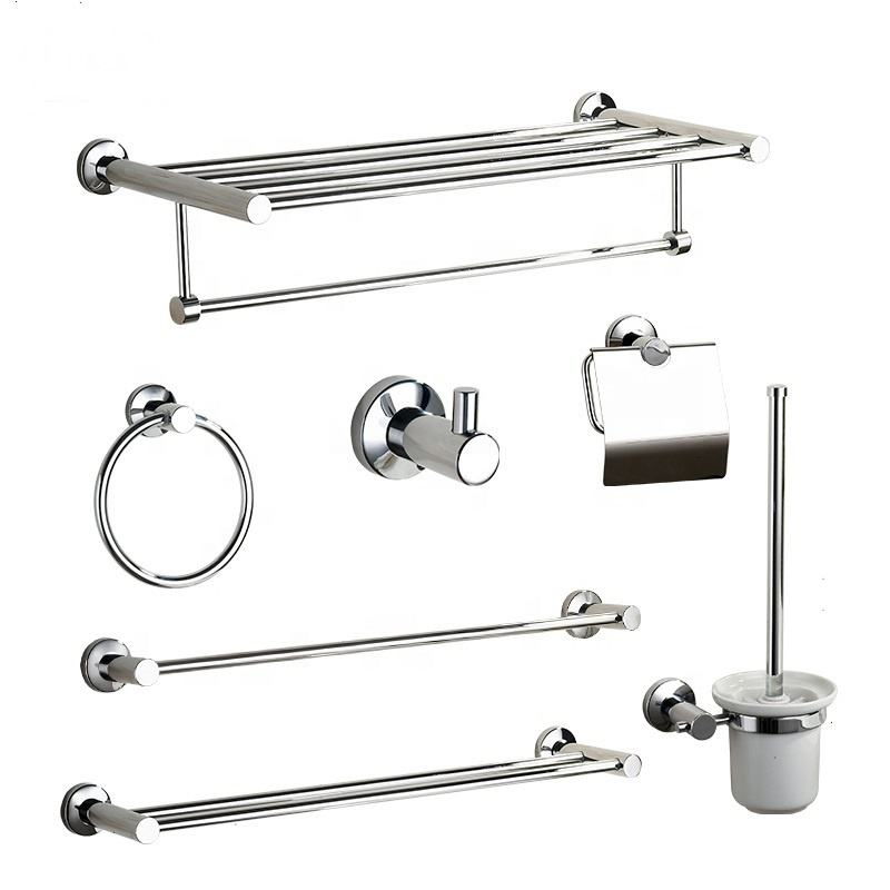 China cheap complete bathroom accessories 304 stainless steel bath hardware Sets