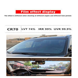 1.52x30m car window film for automotive 3m car wrapping film Self adhesive solar windows tinting