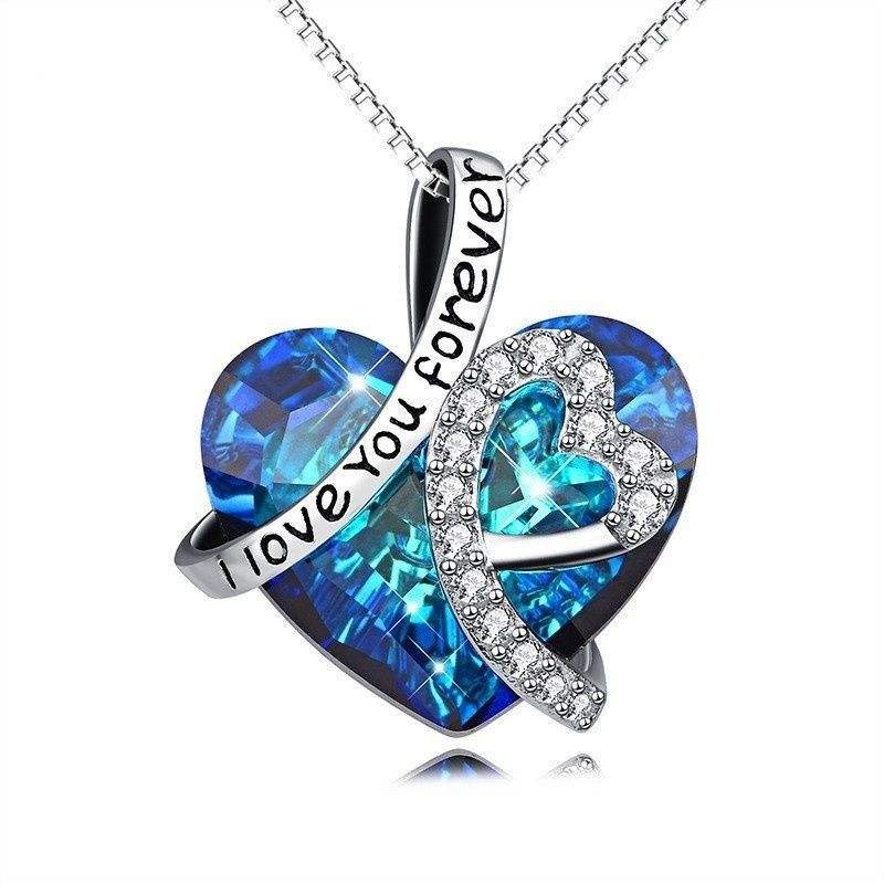 Heart of The Ocean Titanic Heart Pendant Necklace