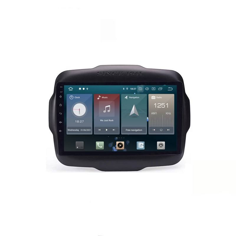 Android 10.0 Tesla Screen Auto Dvd Radio Gps Navigatie Voor Jeep Renegade 2016 2018 Stereo Video Met Wifi Playstore