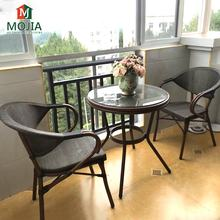 Manufacturer Supply Modern Outdoor Furniture PE Rattan Patio Table And Chair Balcony Leisure Chairs Wicker Commercial Garden Set