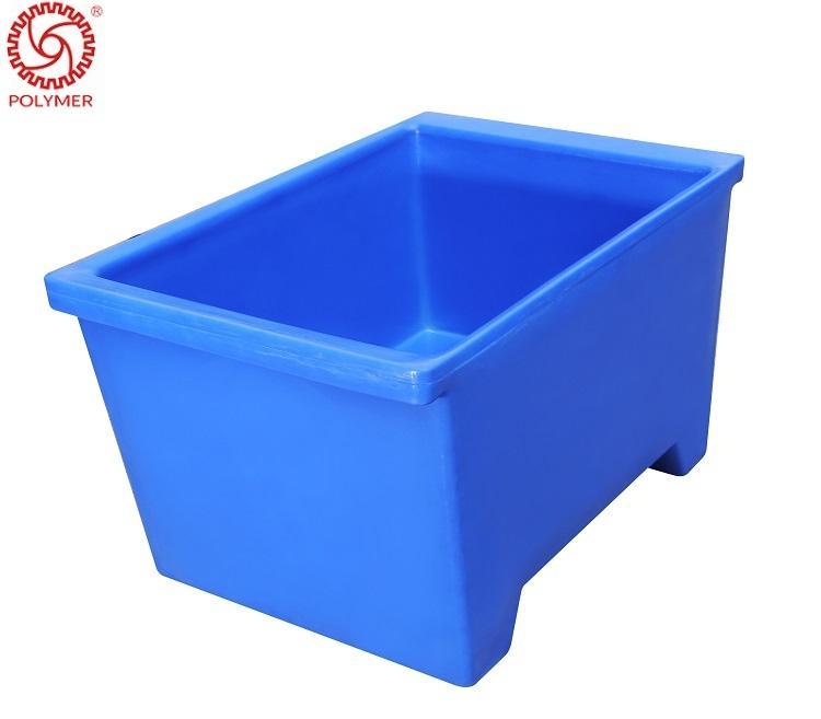550L seafood storage container roto mold plastic insulated fish bin