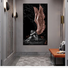 Angels And Demons Canvas Painting No Frame Gray Character Poster And Prints Wall Art Picture For Living Room Home Decoration
