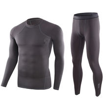 Men's Long Johns Polyester Polar Fleece Long Sleeve Heated Base Layer Compression Ski Sports Thermal Underwear for Winter