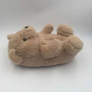 Wholesale high quality cute bear animal daily use house slippers for adults