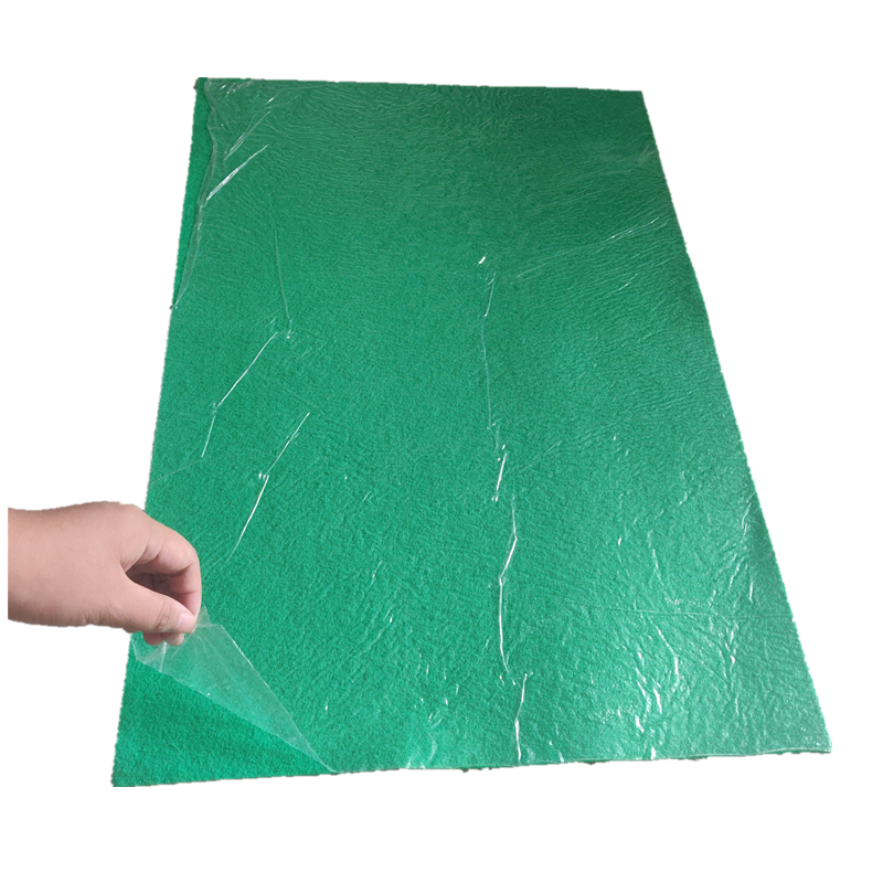 Fairproof Plain surface pvc carpet 100% polyester carpet green plush hotel carpet for exhibition