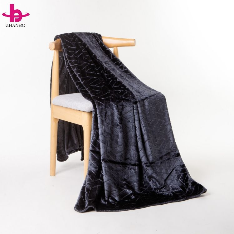 3D Embossed 100% Polyester Sensory Blanket Flannel Hoodie Throw With Custom Printed Soft And Warm Blanket