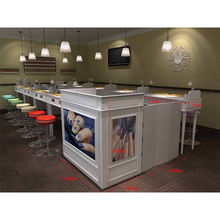 Fashionable express manicure nail bar design for mall kiosk
